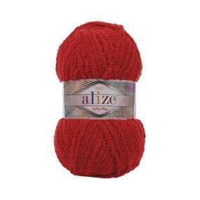 Пряжа ALIZE SOFTY PLUS 56-красный (100% микрополиэстер) фото
