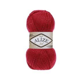 Пряжа ALIZE SAL SIM 649-рубин (5% металлик 95% акрил) фото