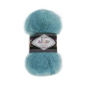 Пряжа ALIZE MOHAIR CLASSIK 164-лазурный (24% шерсть 25% акрил 51% акрил) фото