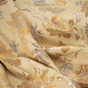 Портьерная ткань с люрексом 150 см на отрез H627 цвет золото фото
