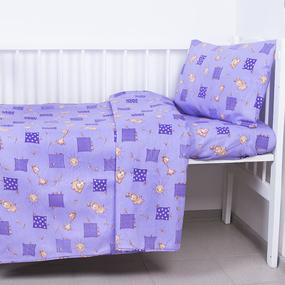 Наволочка детская бязь ГОСТ 366/5 Жирафики цвет фиолетовый 40/60 фото