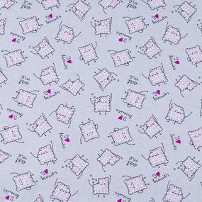 Ткань на отрез кулирка Клубничное печенье R5102-V1 фото
