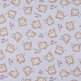 Ткань на отрез кулирка Ванильное печенье R5102-V2 фото