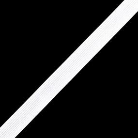Резинка вязаная 20 мм 40 м цвет белый фото