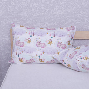 Наволочка перкаль детская 13248/1 Unicorns Модель 2 в упаковке 2 шт 50/70 см фото