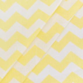 Бязь плательная 150 см 8059/35 Зиг-заг цвет желтый фото