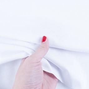 Ткань на отрез кулирка карде цвет белый фото