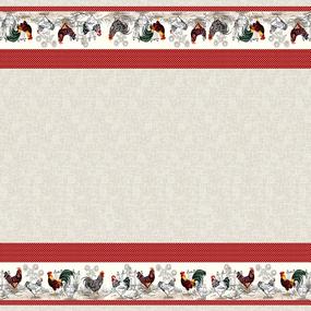 Рогожка 150 см набивная арт 902 Тейково рис 30124 вид 1 Птичий двор фото