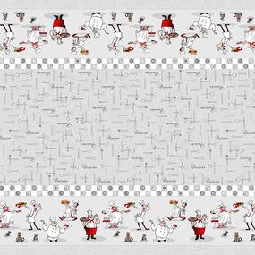 Рогожка 150 см набивная арт 902 Тейково рис 30161 вид 1 Шеф-повар фото