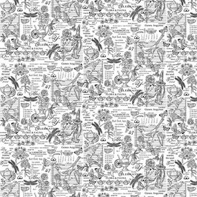 Рогожка 150 см набивная арт 904 Тейково рис 30098 вид 2 Версаль фото