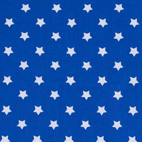Мерный лоскут поплин 150 см 390/21 Звездочки цвет василек фото