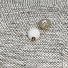 Пуговица ПР168 10мм белая уп 12 шт фото
