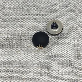 Пуговица ПР168 10мм черная уп 12 шт фото