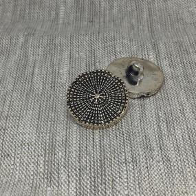 Пуговица ПР173 15 мм серебро черная эмаль уп 12 шт фото