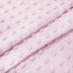 Мерный лоскут Плюш Минки Китай 180 см/60 см цвет розовый фото