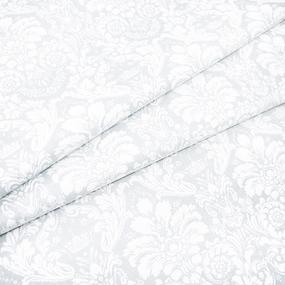 Мерный лоскут поплин 220 см 115 г/м2 391/26 Дамаск цвет светло-серый фото