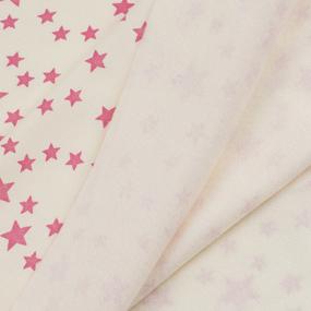 Ткань на отрез футер начес ОЕ Звезды R221 цвет розовый фото