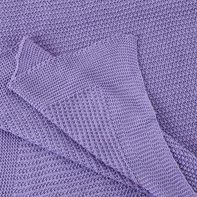 Покрывало-плед Петелька 150/200 цвет фиолетовый фото