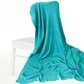 Покрывало-плед Петелька 150/200 цвет зеленый фото