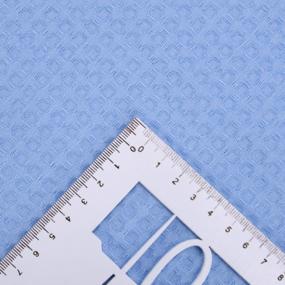 Ткань на отрез вафельное полотно гладкокрашенное 150 см 240 гр/м2 7х7 мм цвет 409 голубой фото