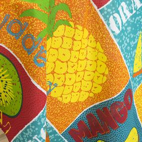 Полотенце вафельное пляжное Я010656 Мультифрукт 150/75 см фото