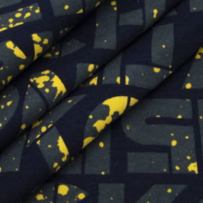 Ткань на отрез кулирка R3345-V1 Вкрапина цвет желтый фото