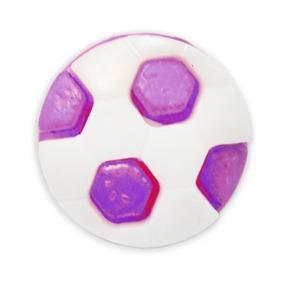 Пуговица детская сборная Мяч 16 мм цвет сиреневый упаковка 24 шт фото