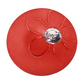 Пуговицы Блузочные со стразой 13 мм цвет А322 красный упаковка 33 шт фото