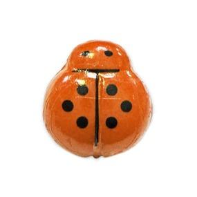 Пуговица детская Божья коровка 14 мм цвет оранжевый упаковка 24 шт фото