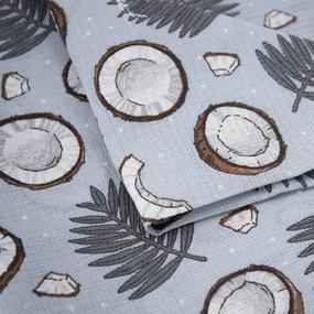 Полотенце вафельное пляжное 3083-2 Кокосы 150/75 см фото