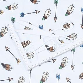 Ткань на отрез интерлок пенье Стрелы и перья 11452-V2 фото