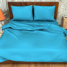 Поплин гладкокрашеный импортный 220 см 115 гр/м2 цвет голубой фото