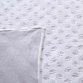 Покрывало велсофт стриженный Лапки серые 150/200 фото