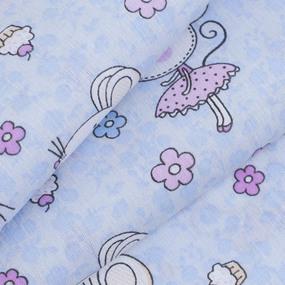 Ткань на отрез поплин 150 см 1953 Мышки-балерины цвет голубой фото