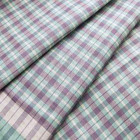 Ткань на отрез полулен полотенечный 50 см 3/35/11 Клетка фото