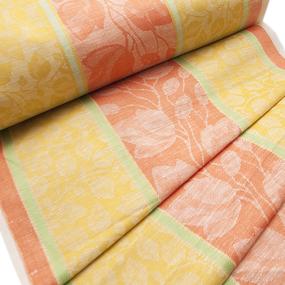 Ткань на отрез полулен полотенечный 50 см Жаккард 1/136/94 фото