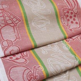 Ткань на отрез полулен полотенечный 50 см Жаккард 3547/29 фото