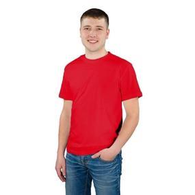 Мужская однотонная футболка цвет красный 48 фото
