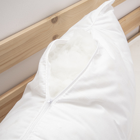 Подушка Лебяжий пух Перо серебро на белом 50/70 фото