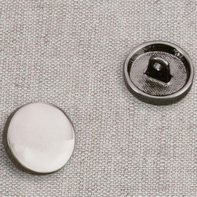 Пуговица металл ПМ57 15мм черный никель глянец уп 12 шт фото