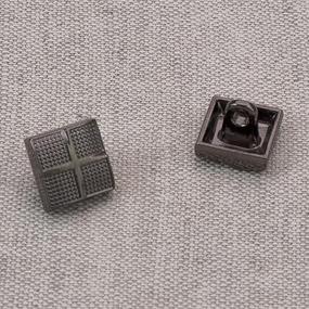 Пуговица металл ПМ63 10мм черный никель квадрат уп 12 шт фото