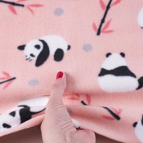 Ткань на отрез флис Панды 40067 фото
