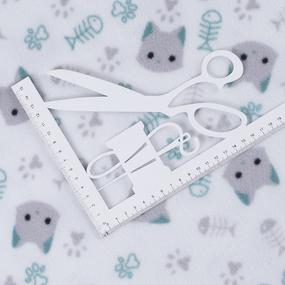 Ткань на отрез флис Кошки на белом 30091/1 фото