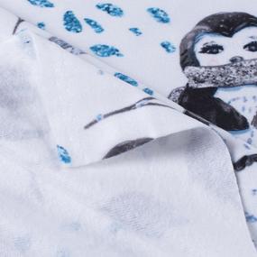 Ткань на отрез микрофлис Пингвины 16171 фото