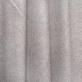 Ткань на отрез Blackout лен рогожка 508-41 серо-бежевый фото