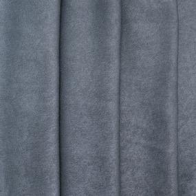 Портьерная ткань софт однотонный 280 см на отрез 502-35 серый фото