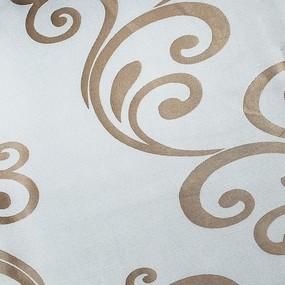 Ткань на отрез Blackout двусторонний вензеля 231-51 золото фото