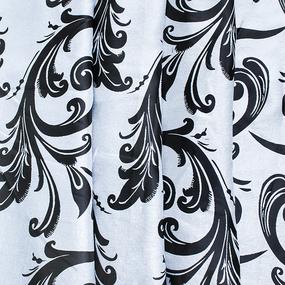 Ткань на отрез Blackout двусторонний вензеля 8800-26 черный фото