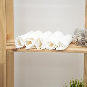 Полотенце вафельное отбеленное 140гр/м2 упаковка 5 шт 45/100 см фото