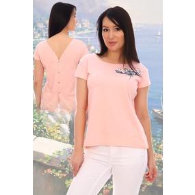 Блузка Фантастика 11684 розовая р 50 фото